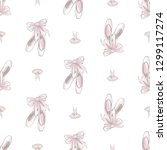 ballet seamless pattern with... | Shutterstock .eps vector #1299117274
