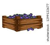 cartoon illustration of wooden... | Shutterstock .eps vector #1299122677