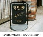 authentic seafood restaurant... | Shutterstock . vector #1299133804