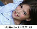 overhead portrait of reclining... | Shutterstock . vector #1299143