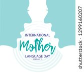 international mother language... | Shutterstock .eps vector #1299160207
