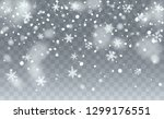 realistic snowflakes background.... | Shutterstock .eps vector #1299176551