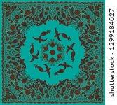 vector abstract bandana peacock ... | Shutterstock .eps vector #1299184027