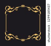 gold ornament baroque style.... | Shutterstock .eps vector #1299185437