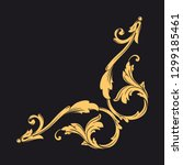 gold ornament baroque style.... | Shutterstock .eps vector #1299185461