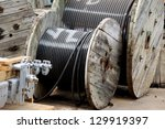 cable storage in a warehouse   Shutterstock . vector #129919397