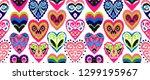 valentine's day. seamless... | Shutterstock .eps vector #1299195967