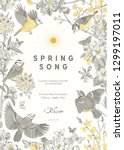 spring song. classis vintage... | Shutterstock .eps vector #1299197011