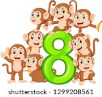 the 8 jelly number with so many ... | Shutterstock .eps vector #1299208561