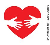 heart icon with caring hands ... | Shutterstock .eps vector #129920891