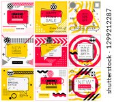 set of trendy abstract... | Shutterstock .eps vector #1299212287