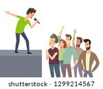 music character performing for... | Shutterstock .eps vector #1299214567