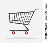 shopping cart flat design icon | Shutterstock .eps vector #1299220861