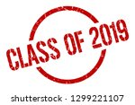 class of 2019 red round stamp | Shutterstock .eps vector #1299221107