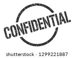 confidential black round stamp | Shutterstock .eps vector #1299221887