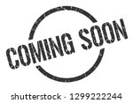 coming soon black round stamp | Shutterstock .eps vector #1299222244
