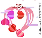 valentine's day  heart ... | Shutterstock .eps vector #1299223921
