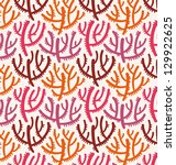 abstract coral underwater summer seamless pattern vector illustration eps 10 - stock vector