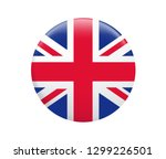 united kingdom flag button on a ... | Shutterstock .eps vector #1299226501
