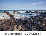 rocky coastline  big island ... | Shutterstock . vector #129922664