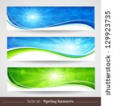 spring banners | Shutterstock .eps vector #129923735