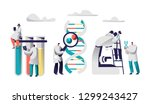 scientist team research... | Shutterstock .eps vector #1299243427