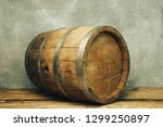 Wooden Barrel And Worn Old...