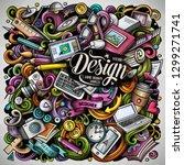 cartoon vector doodles art and... | Shutterstock .eps vector #1299271741