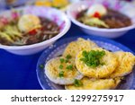 vietnamese small pancakes and... | Shutterstock . vector #1299275917