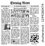 fake newspaper with unreadable... | Shutterstock .eps vector #1299280474