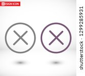 flat cancel vector icon   Shutterstock .eps vector #1299285931