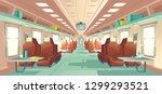 modern passenger long distance... | Shutterstock .eps vector #1299293521