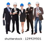 group of architects. isolated... | Shutterstock . vector #129929501