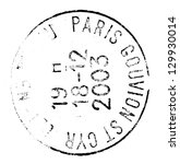 Paris Postage Stamp Isolated O...