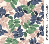 trendy floral background with... | Shutterstock .eps vector #1299303364