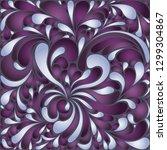 silk texture fluid shapes ... | Shutterstock .eps vector #1299304867