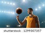 basketball player spinning a... | Shutterstock . vector #1299307357