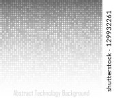 abstract gray technology... | Shutterstock .eps vector #129932261