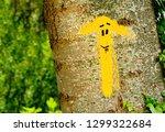 traditional yellow arrow... | Shutterstock . vector #1299322684