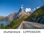 the stetind is a 1.392 m high...   Shutterstock . vector #1299336334
