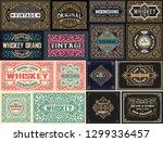 pack of 16 vintage labels. | Shutterstock .eps vector #1299336457