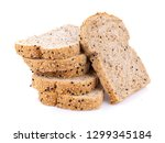 whole wheat bread isolated on... | Shutterstock . vector #1299345184