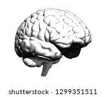 monochrome human brain... | Shutterstock .eps vector #1299351511