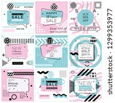 set of trendy abstract... | Shutterstock .eps vector #1299353977