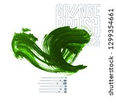 green brush stroke and texture. ... | Shutterstock .eps vector #1299354661