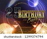 25 years anniversary logo with... | Shutterstock .eps vector #1299374794