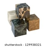 some marbled stone cubes in... | Shutterstock . vector #129938321