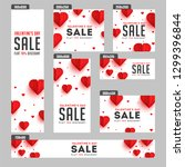 valentine's day sale header and ... | Shutterstock .eps vector #1299396844