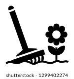 gardening tools with flower ... | Shutterstock .eps vector #1299402274