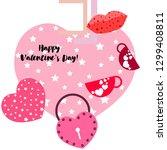 valentine's day  mug  lock ...   Shutterstock .eps vector #1299408811